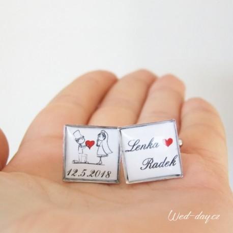 Knoflíčky Nevěsta a ženich