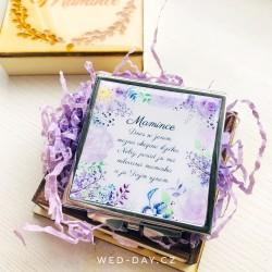 Zrcátko Lila rose Mamince + krabička