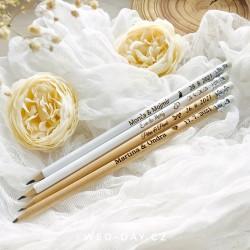 Svatební tužky se jmény a datem svatby