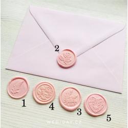 Pečeť růžová - Obálky a pečetě
