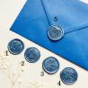 Pečeť modrá silver - Obálky a pečetě