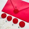 Pečeť červená - Obálky a pečetě