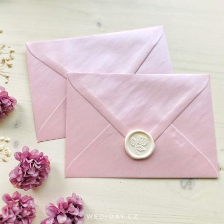 Růžová perleťová - Obálky a pečetě