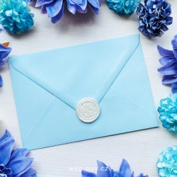 Pastelově modrá - Obálky a pečetě