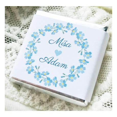 Pomněnky + váš text- Svatební čokolády