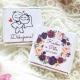Novomanželé + váš text + poděkování - Svatební čokolády