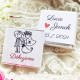 Novomanželé + poděkování + váš text - Svatební čokolády