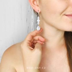 Crystal bijoux - svatební náušnice