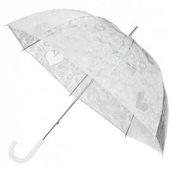 Svatební průhledný deštník s krajkou