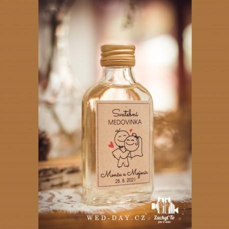 Svatební medovina Jména + datum